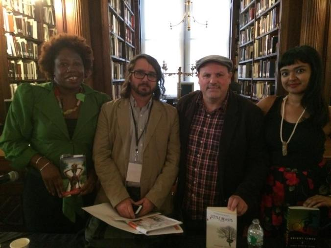 after the panel with from left Ian Maloney Matthew McGevna and Tanwi Nandi Islam