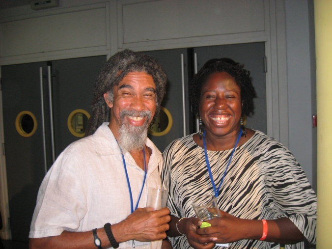Me (Joanne C. Hillhouse) with Kendel Hippolyte.