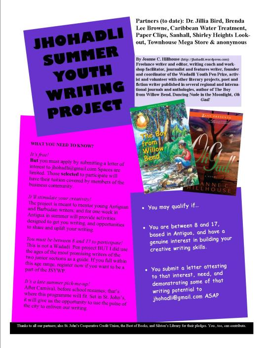 jhohadli summer writing project flyer update