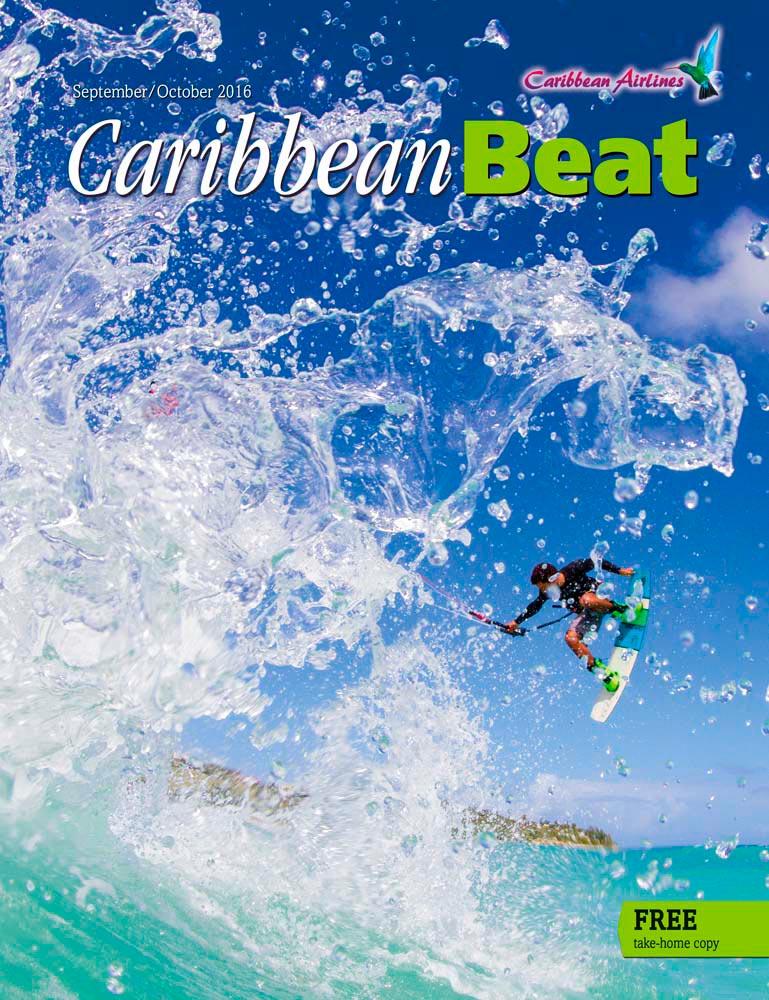 Antiguan kiteboarding pioneer Andre Phillip goes airborne. Photo by Roddy Grimes-Graeme