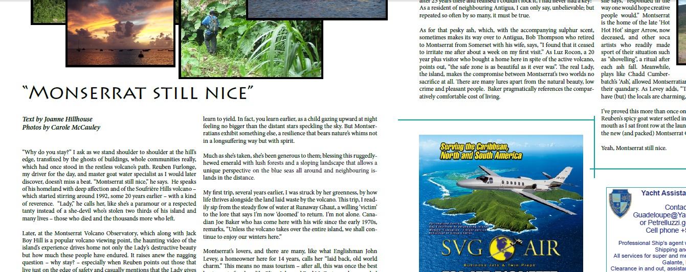 Caribbean Beach News article clip
