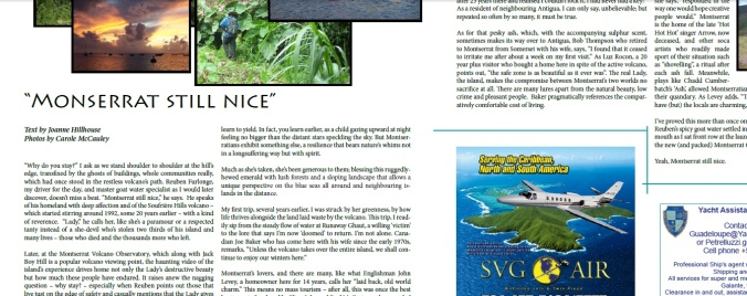 Caribbean Beach News article clip