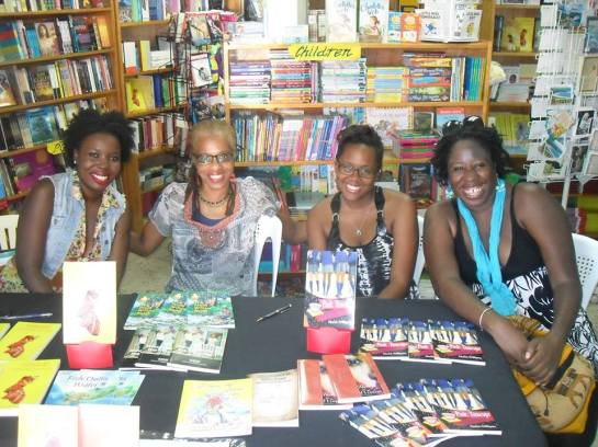 From left, Linisa George, Brenda Lee Browne, Floree Williams, and me.