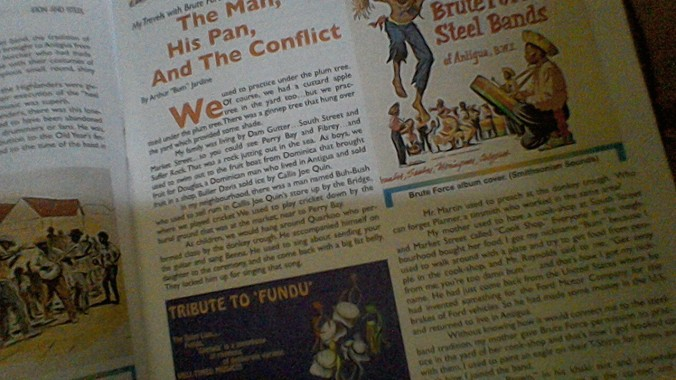 The page on the left is all Bum (sidebar: I have to thank Edgar O. Lake, also featured in the collection, for that link-up)... and on the right you can just see the late E T Henry's Christmas String Band painting.