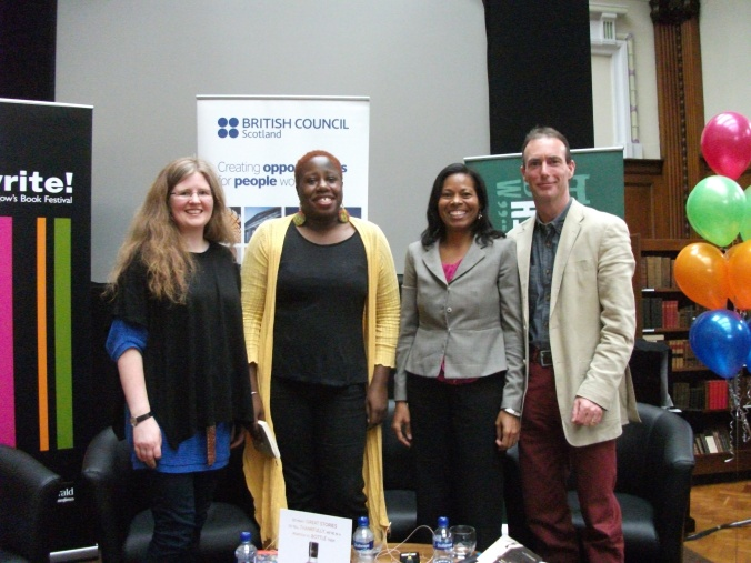 From left Gemma Robinson, me, Ivory Kelly, and Martin McIntyre. Gemma is a professor and was our facilitator, Ivory is a writer from Belize and Martin's a writer from Scotland.