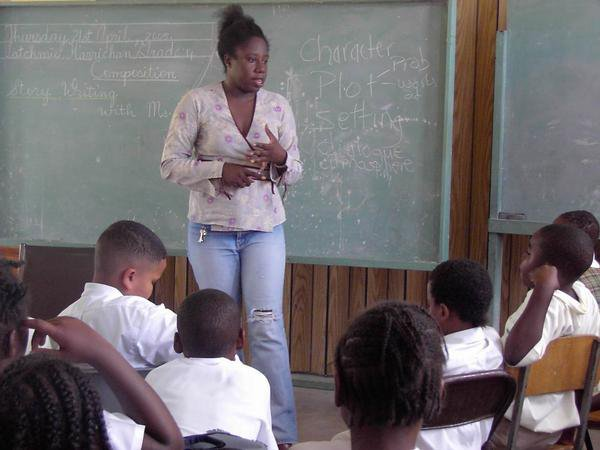 Presentation on story writing at Buckleys Primary, 2005.