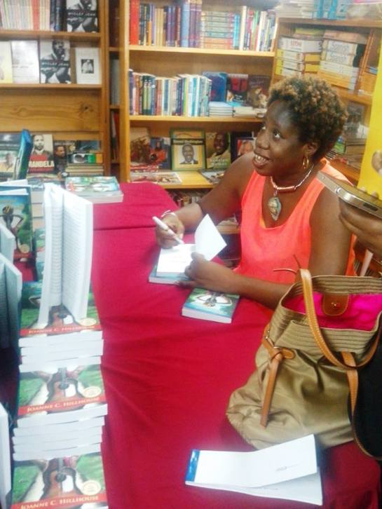 Here I am signing copies of Musical Youth…and engaging with soon-to-be-readers.