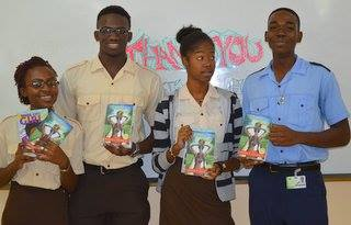 Copies of Musical Youth were presented to students at the Antigua State College.