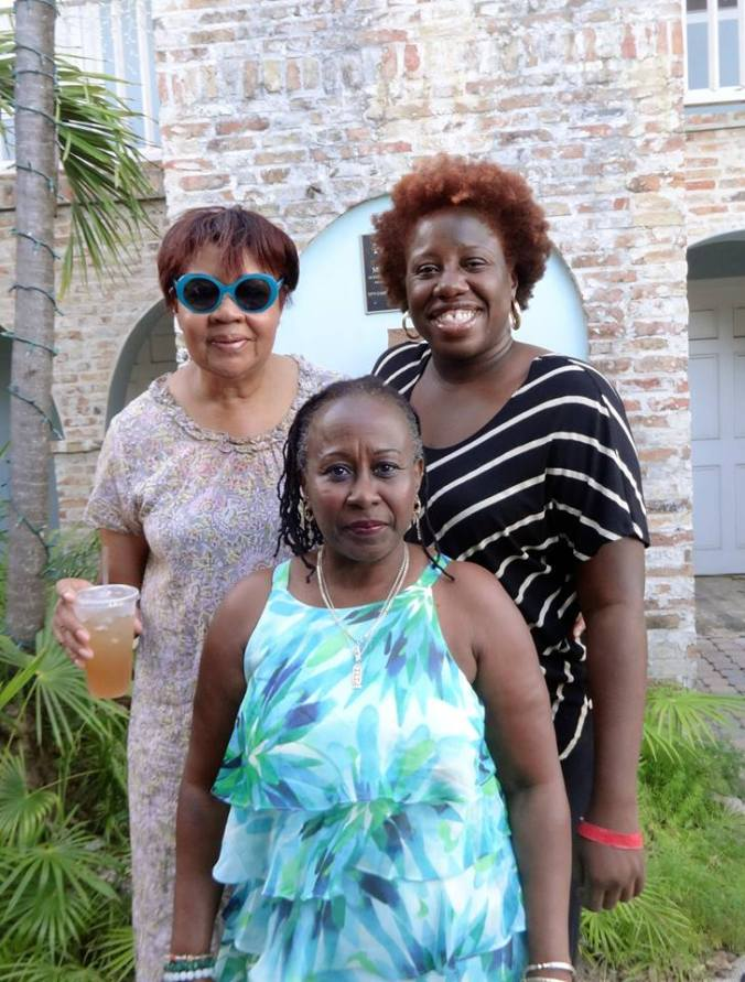 Me (right), at the Virgin Islands Literary Festival, with Jamaica Kincaid (left) and Opal Palmer Adisa (centre). Photo courtesy Opal Palmer Adisa.