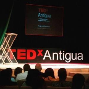 Showtime! Images courtesy TEDx Antigua.