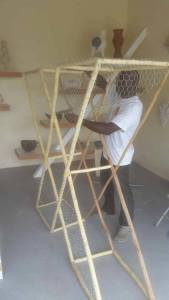 See me nar lie? Fish pot X in progress. Images courtesy TEDx Antigua.