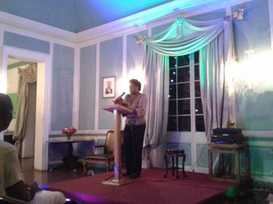 reading from Oh Gad at Government House 2015
