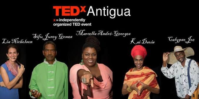 The Speakers. Image courtesy TEDx Antigua.