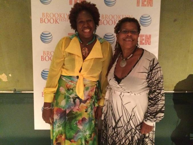 Bev and me dolled up for one of the festival galas. And thanks to Miranda Askie Designs, Antiguan and Barbudan clothing and jewelry designer extraordinaire for my fest ensemble in this and all other pics.