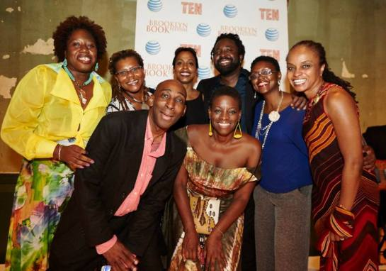Pictured with other Caribbean Writers at the Brooklyn Book Fair 2015.