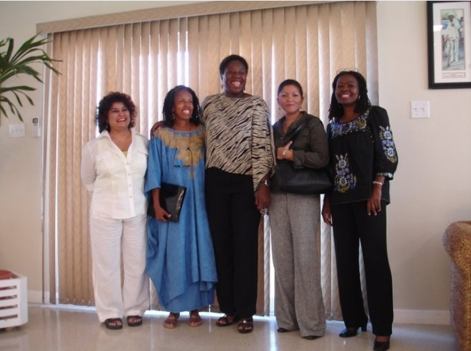 Panelists at the BIM Symposium (2008) Celebrating Caribbean Women Writers.
