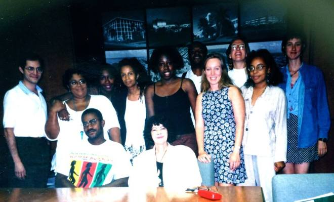 My first ever writing workshop - 1995 - with other Caribbean writers - University of Miami.