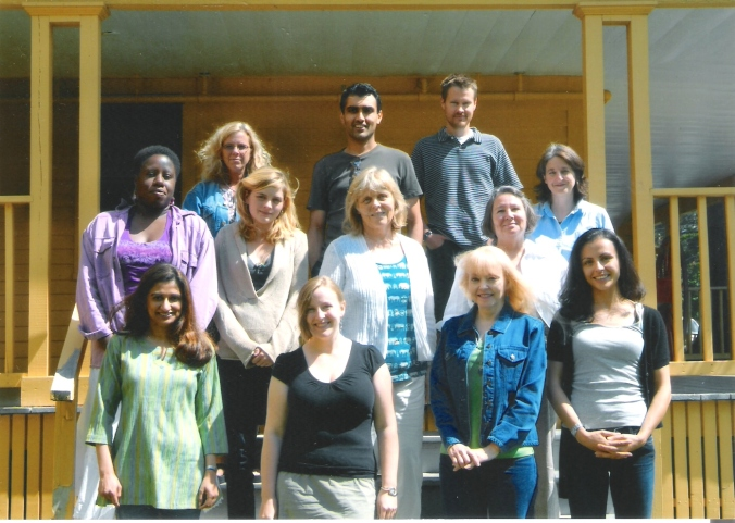 Me with my writing group at the Breadloaf Writers Conference in Vermont 2008. Our workshop leader was Ursula Hegi, centre, and I was one of two fellows - the other was Will Allison, back row right.