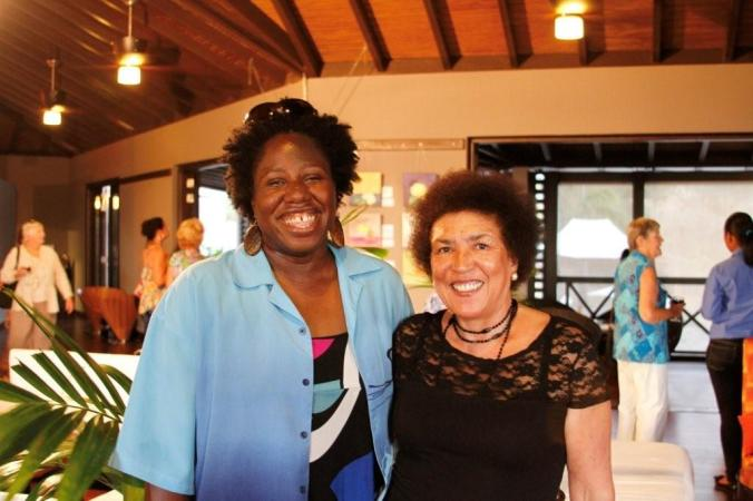 with Antiguan-Barbudan-British writer Claudia Elizabeth Ruth Francis. About...2013 maybe.
