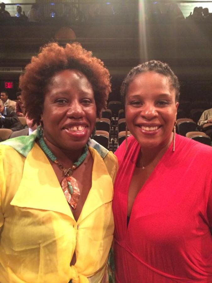 With Tayari Jones, author of Silver Sparrow, at the 2015 Brooklyn Book Festival.