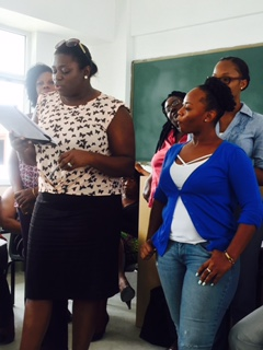 Participants in my writing workshop at the Summer Institute, Ministry of Education, Antigua and Barbuda, 2016.