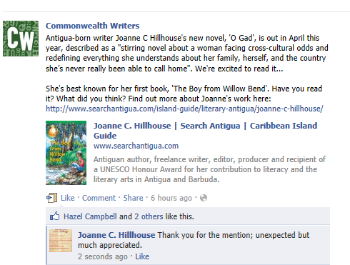 Mention on Commonwealth page