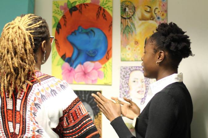 Maritza Martin w Nneka Nicholas at Gender Cafe and Art 2015